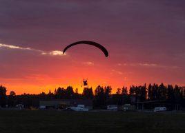 Der Himmel war wunderschön, aber das Bild täuscht, es war sehr hell. ©Björn Karlsson