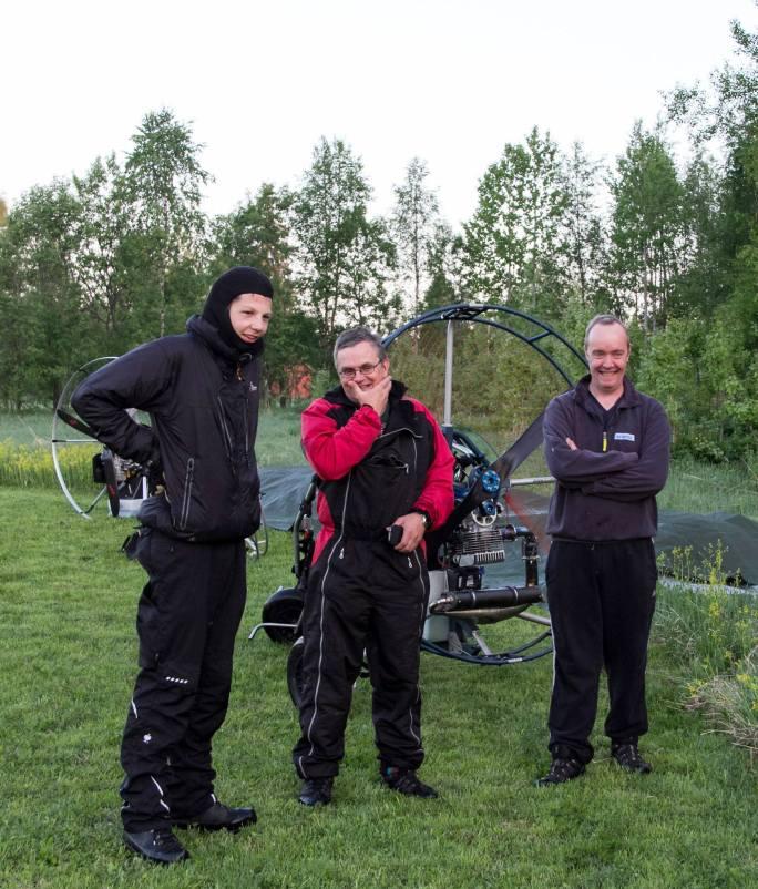 Nach meiner Ankunft mit Peter und Johan