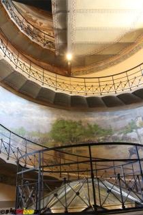 Es gab fast keine Treppen sondern einen Weg entlang der Turmmauer
