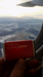 Flying with Swiss you always get Chocolate