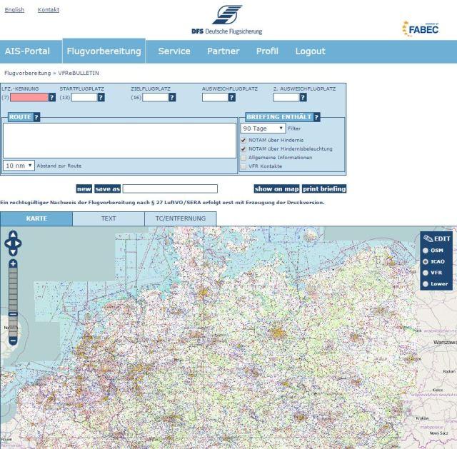 vfr karte deutschland offizielle ICAO Karte Deutschland 2016 kostenlos