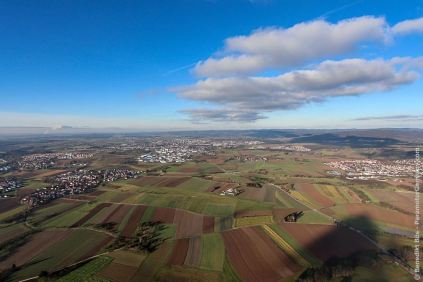 Der Flugplatz EDSH in Backnang-Heiningen aus der Luft