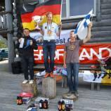 Glücklich und erschöpft nach dem hart erkämpften Sieg in Estland